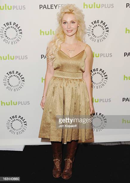 Actress Clare Bowen arrives at 'Nashville' part of the 30th Annal William S Paley Television Festival at Saban Theatre on March 9 2013 in Beverly...