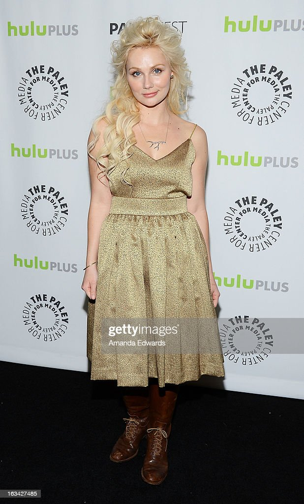 Actress Clare Bowen arrives at the 30th Annual PaleyFest: The William S. Paley Television Festival featuring 'Nashville' at the Saban Theatre on March 9, 2013 in Beverly Hills, California.