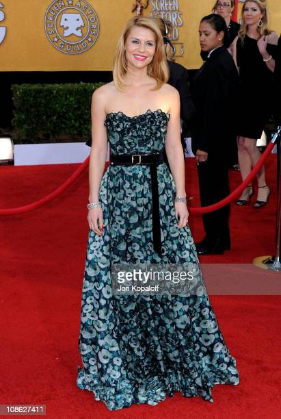 Actress Clare Danes arrives at the 17th Annual Screen Actors Guild Awards at The Shrine Auditorium on January 30 2011 in Los Angeles California