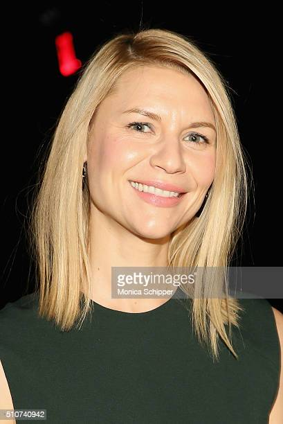 Actress Clare Danes attends the Narciso Rodriguez Fall 2016 fashion show during New York Fashion Week at SIR Stage 37 on February 16 2016 in New York...