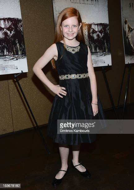 Actress Clare FOley attends the Sinister premiere at the Tribeca Grand Hotel on October 8 2012 in New York City