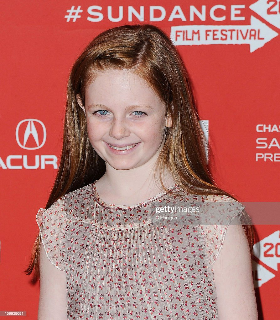 Actress Clare Foley attends the 'Very Good Girls' premiere at Eccles Center Theatre during the 2013 Sundance Film Festival on January 22, 2013 in Park City, Utah.