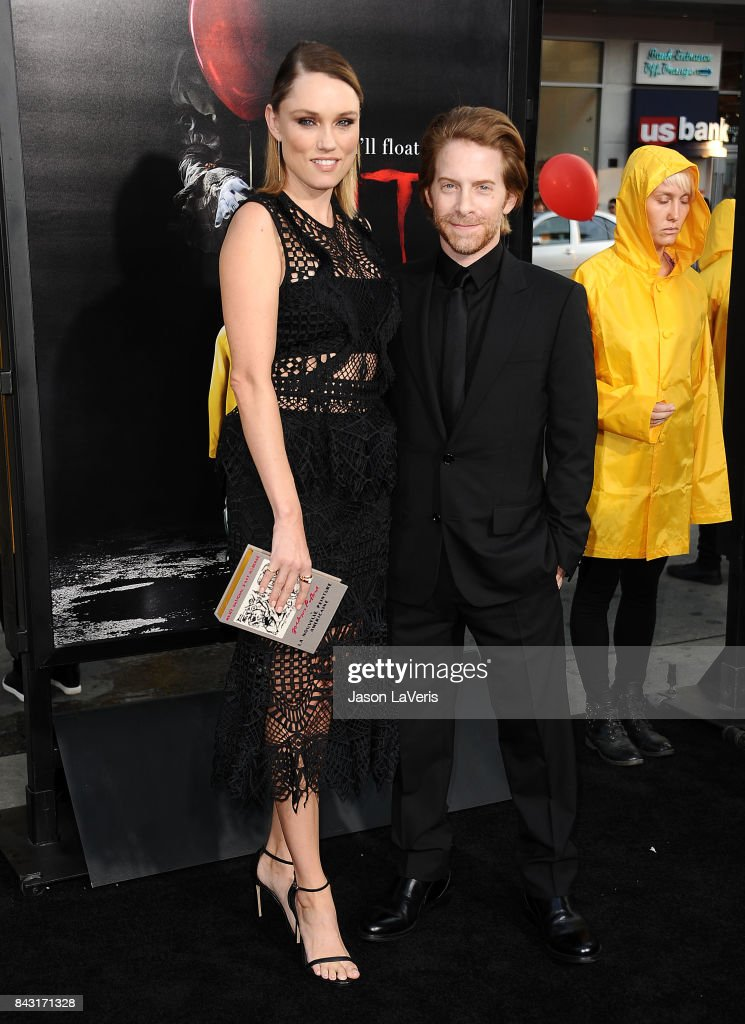 Actress Clare Grant and actor Seth Green attend the premiere of 'It' at TCL Chinese Theatre on September 5, 2017 in Hollywood, California.