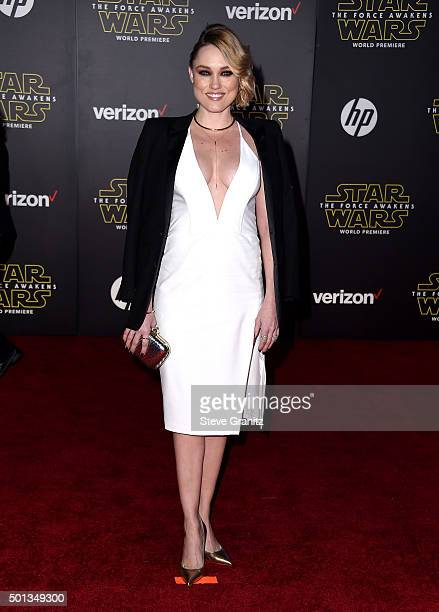 Actress Clare Grant arrives at the premiere of Walt Disney Pictures' and Lucasfilm's Star Wars The Force Awakens at the Dolby Theatre TCL Chinese...