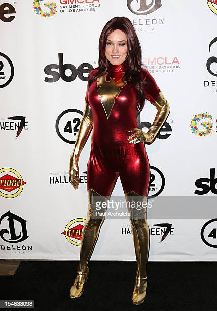 Actress Clare Grant attends Fred Jason's annual Halloweenie charity event at The Lot on October 26 2012 in West Hollywood California
