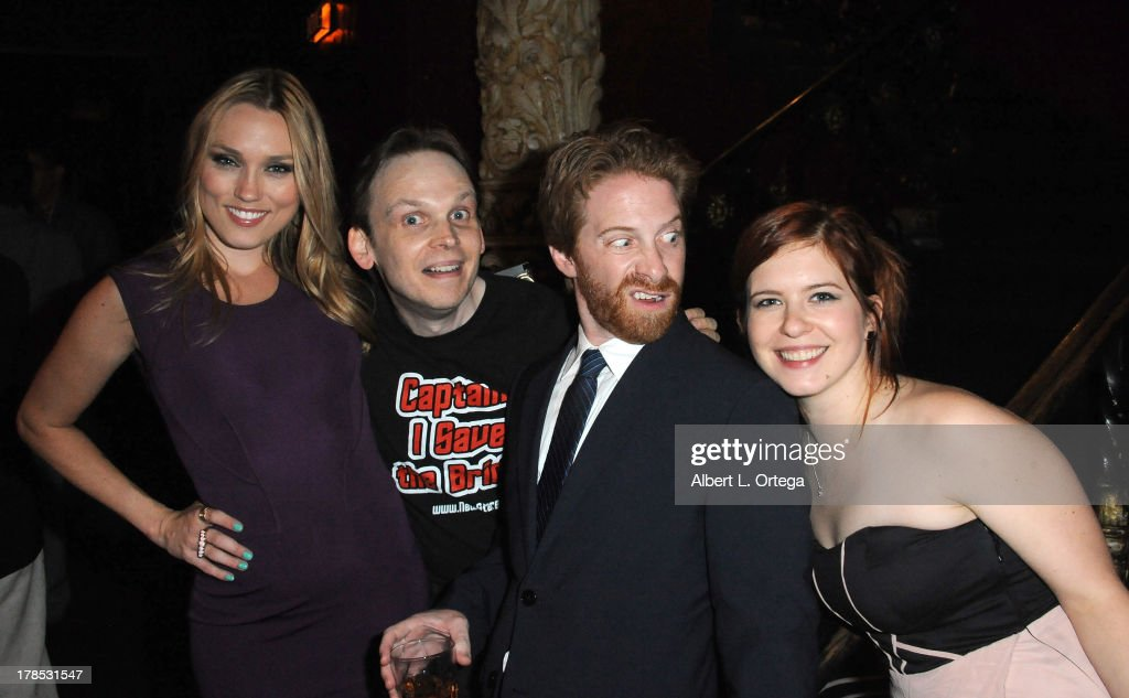 Actress Clare Grant, Huston Huddelston, actor Seth Green and actress Magda Apanowicz attend The 1st Annual Geekie Awards held at Avalon on August 18, 2013 in Hollywood, California.