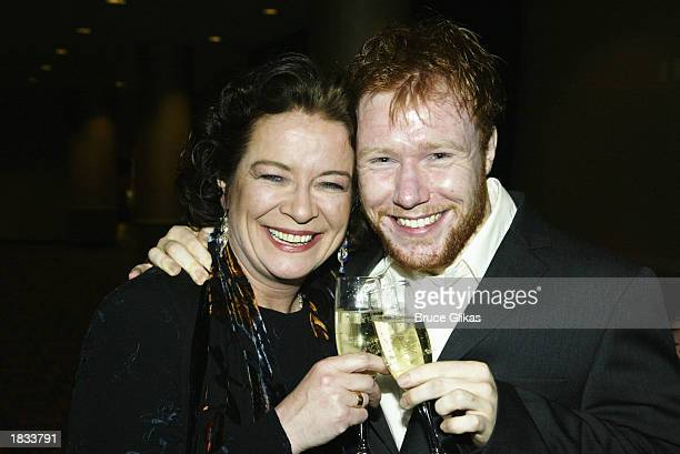 Actress Clare Higgins and actor Jochum ten Haaf attend the Opening Night Party for The Lincoln Center Theater Production of ' Vincent in Brixton' at...