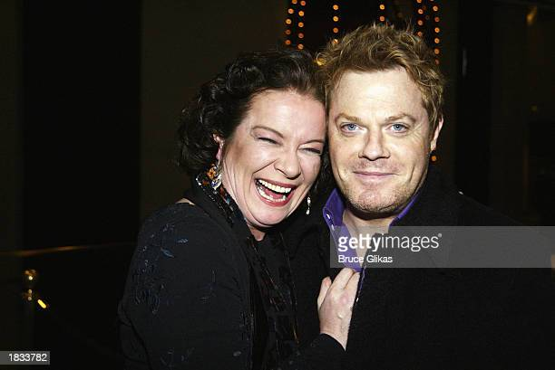 Actress Clare Higgins and actor/comedian Eddie Izzard attend the Opening Night Party for The Lincoln Center Theater Production of ' Vincent in...
