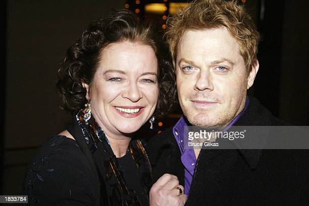 Actress Clare Higgins and actor/comedian Eddie Izzard attend the Opening Night Party for The Lincoln Center Theater Production of 'Vincent in...