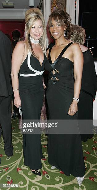 Actress Clare King and chat show host Trisha Goddard attends the champagne reception ahead of the Pioneer British Academy Television Awards 2006 at...