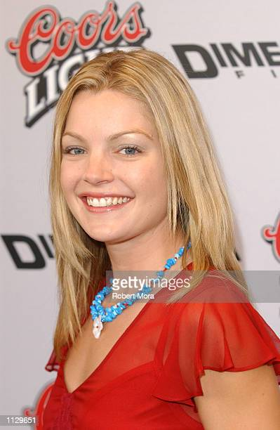 Actress Clare Kramer attends the premiere of Halloween Resurrection at the Mann Festival Theater on July 1 2002 in Westwood California The film opens...