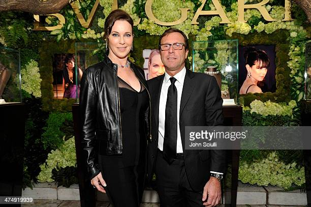 Actress Clarissa Burt and Bulgari Corporation of America President Alberto Festa attend Decades of Glamour presented by BVLGARI on February 25 2014...