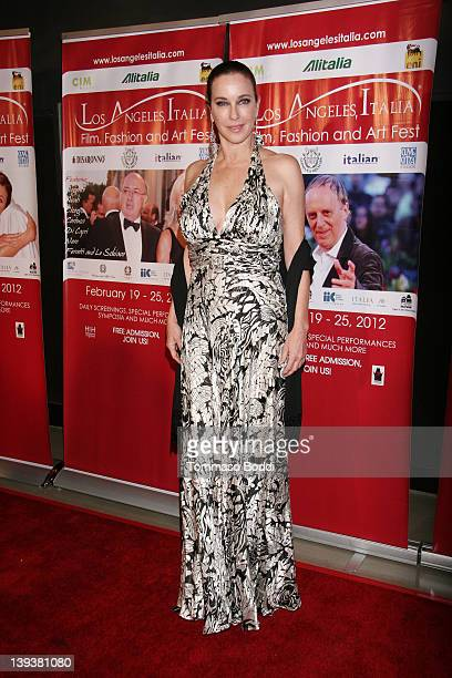 Actress Clarissa Burt attends the 7th annual Los Angeles Italia Film Fashion And Art Festival opening night gala held at the Mann Chinese 6 on...