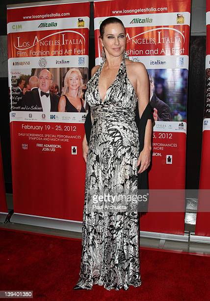 Actress Clarissa Burt attends the 7th annual Los Angeles ItaliaFilm Fashion and Art Festival opening night at Mann Chinese 6 on February 19 2012 in...