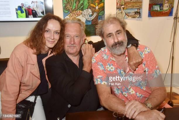 "Actress Claude Perron , directors Benoit Delepine and Gustave Kervern attend ""Le Cinema De Benoit Delepine Et Gustave Kervern"" Book Signing Party At..."
