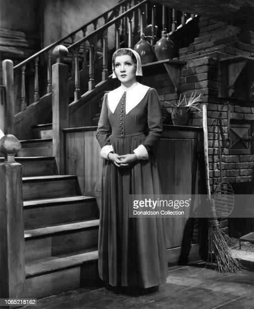 Actress Claudette Colbert in a scene from the movie 'Maid of Salem'