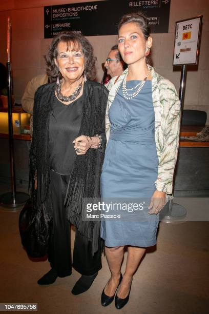 Actress Claudia Cardinale and her daughter Claudia Squitieri attend the 'Il Etait Une Fois Sergio Leone' exhibition opening at Cinematheque Francaise...