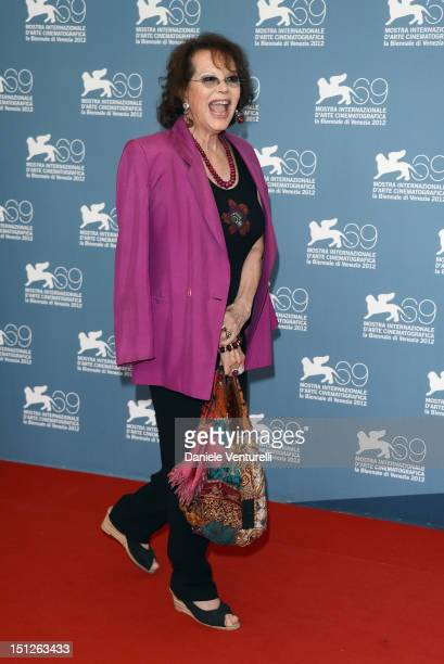 Actress Claudia Cardinale attends O Gebo E A Sombra Photocall during The 69th Venice Film Festival at the Palazzo del Casino on September 5 2012 in...