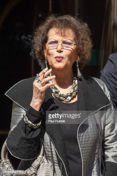 Actress Claudia Cardinale is seen arriving at the 'Park Hyatt Vendome' hotel on April 24 2013 in Paris France