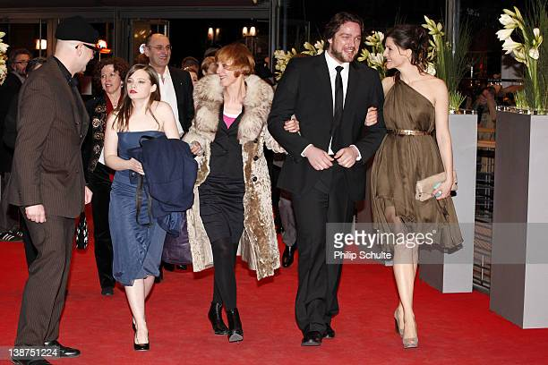 Actress Claudia Geisler actress Christina Hecke and actor Ronald Zehrfeld attend the Barbara Premiere during day three of the 62nd Berlin...