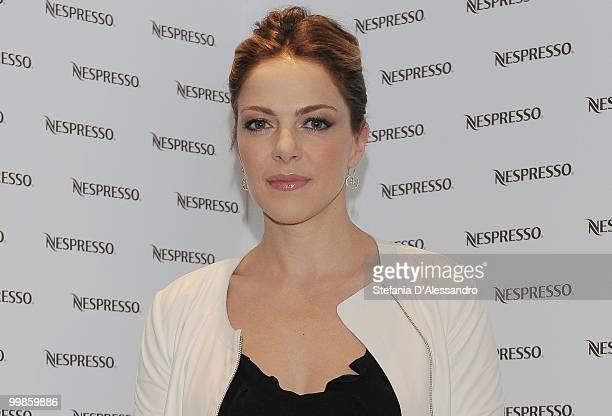 Actress Claudia Gerini attends 'Profumo Di Donna' Event held at Nespresso Boutique on May 18 2010 in Milan Italy