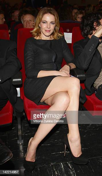 Actress Claudia Gerini attends the 2012 Busto Arsizio Film Festival closing night on March 31 2012 in Busto Arsizio Italy