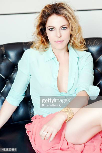 Actress Claudia Gerini is photographed for Self Assignment on April 29 2014 in Rome Italy