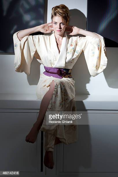 Actress Claudia Gerini is photographed for Self Assignment on May 19 2011 in Rome Italy