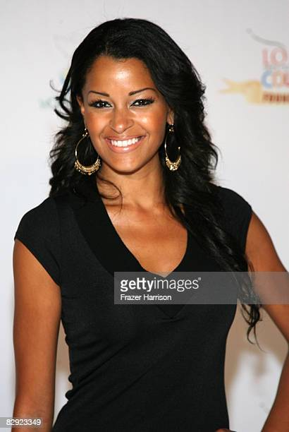 Actress Claudia Jordan arrives at the 'Love Sees No Color' Gala hosted by Jamie Foxx on September 19 2008 at Paramount Studios in Los Angeles...