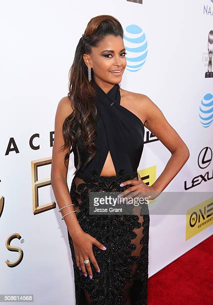 Actress Claudia Jordan attends the 47th NAACP Image Awards presented by TV One at Pasadena Civic Auditorium on February 5 2016 in Pasadena California