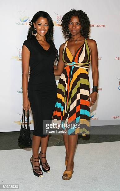 Actress Claudia Jordan poses with Vanessa Williams at the 'Love Sees No Color' Gala hosted by Jamie Foxx on September 19 2008 at Paramount Studios in...
