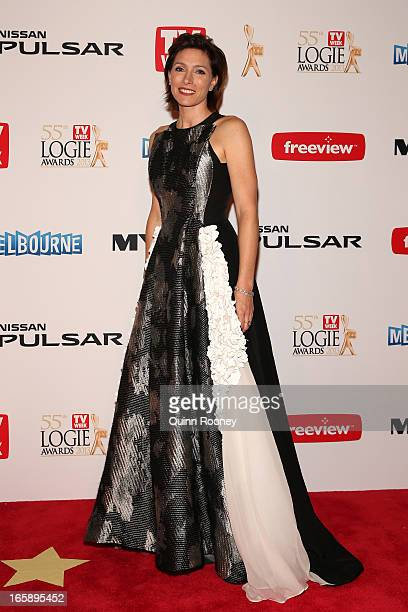 Actress Claudia Karvan arrives at the 2013 Logie Awards at the Crown Palladium on April 7 2013 in Melbourne Australia