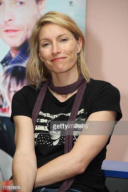 Actress Claudia Karvan attends '33 Postcards' movie promotion event at Fudan University on June 20 2011 in Shanghai China