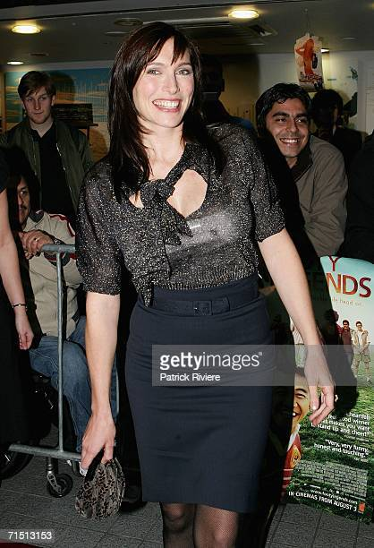Actress Claudia Karvan attends the world premiere of 'Footy Legends' at the Greater Union George St Cinemas July 2006 in Sydney Australia