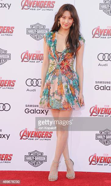 Actress Claudia Kim arrives at the Los Angeles Premiere Marvel's 'Avengers Age Of Ultron' at Dolby Theatre on April 13 2015 in Hollywood California