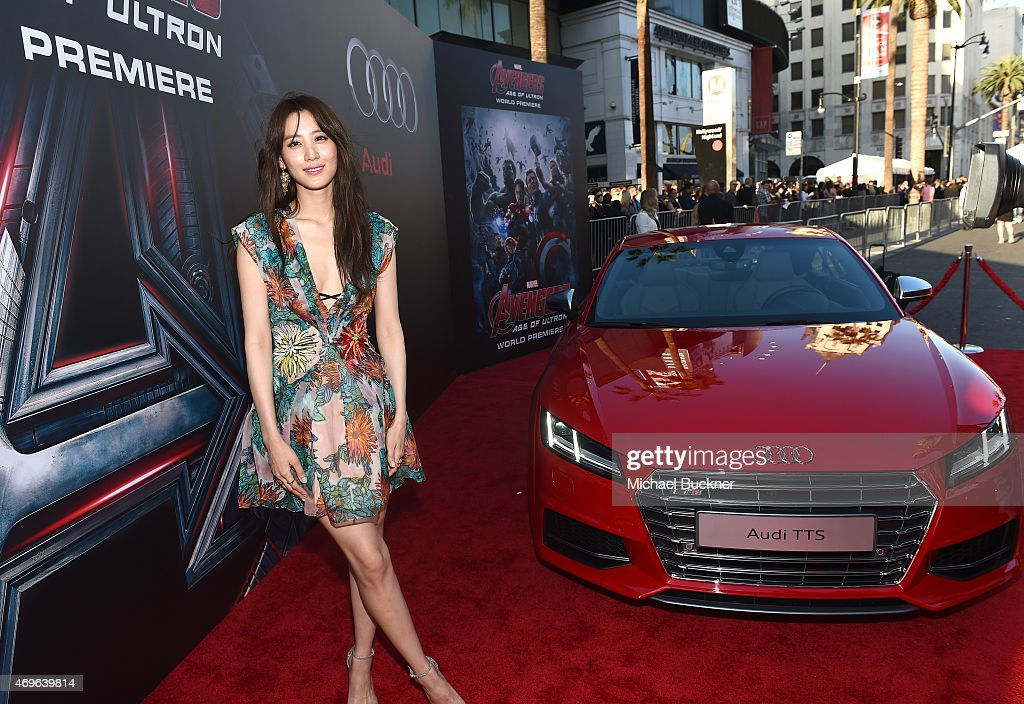 """Audi Arrivals at The World Premiere Of """"Avengers: Age Of Ultron"""" : News Photo"""