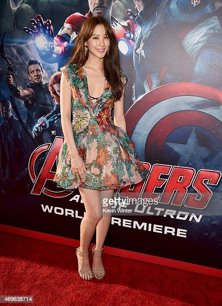 Actress Claudia Kim attends the premiere of Marvel's 'Avengers Age Of Ultron' at Dolby Theatre on April 13 2015 in Hollywood California