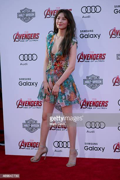 Actress Claudia Kim attends the premiere of Marvel's Avengers Age Of Ultron at Dolby Theatre on April 13 2015 in Hollywood California