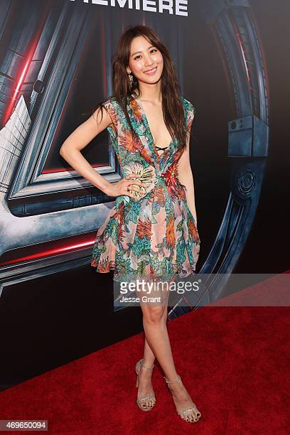 Actress Claudia Kim attends the world premiere of Marvel's Avengers Age Of Ultron at the Dolby Theatre on April 13 2015 in Hollywood California