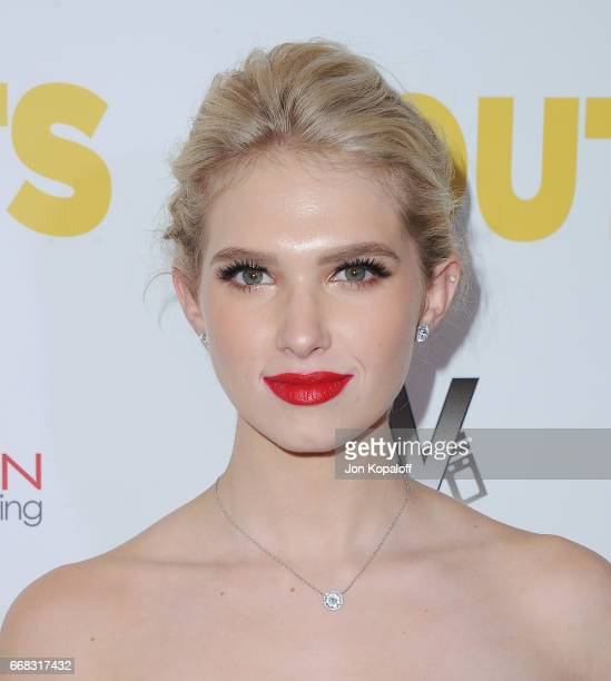 Actress Claudia Lee arrives at the Los Angeles Premiere 'The Outcasts' at Landmark Regent on April 13 2017 in Los Angeles California
