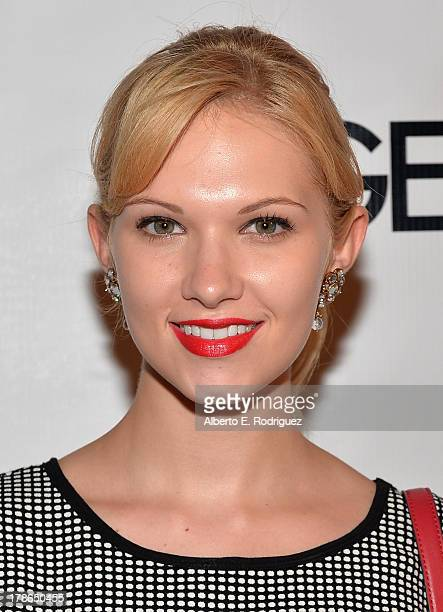 Actress Claudia Lee arrives to Genlux Magazine's Issue Release party featuring Erika Christensen at The Sofitel Hotel on August 29 2013 in Los...