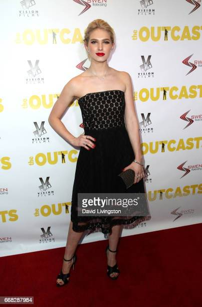 Actress Claudia Lee attends the premiere of Swen Group's 'The Outcasts' at Landmark Regent on April 13 2017 in Los Angeles California