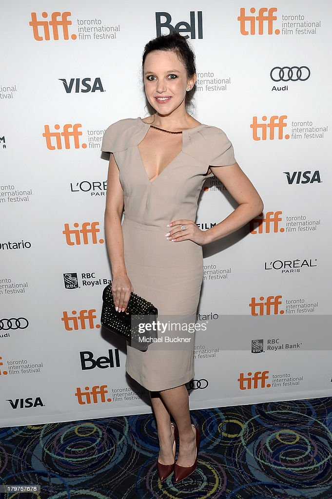 Actress Claudia Levy arrives at the 'Palo Alto' premiere during the 2013 Toronto International Film Festival at Scotiabank Theatre on September 6, 2013 in Toronto, Canada.