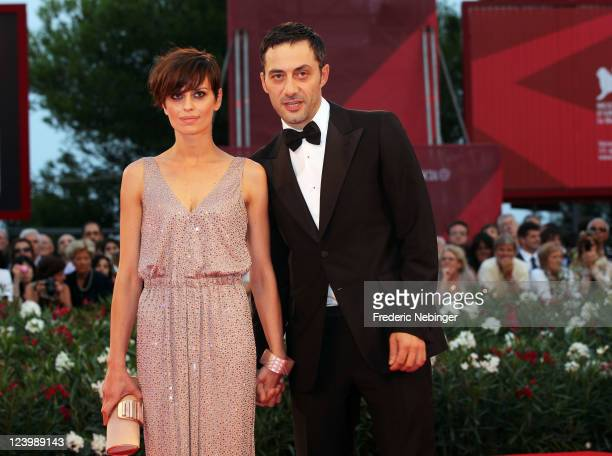 Actress Claudia Pandolfi and actor Filippo Timi attend the Quando La Notte premiere during the 68th Venice Film Festival at Palazzo del Cinema on...