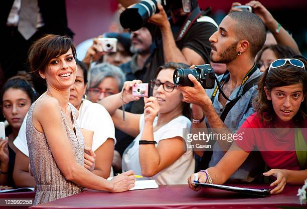 Actress Claudia Pandolfi attends the Quando La Notte premiere during the 68th Venice Film Festival at Palazzo del Cinema on September 7 2011 in...