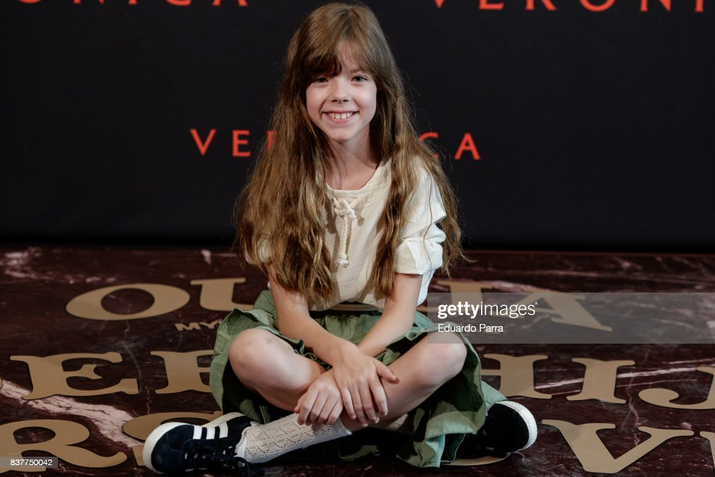 Actress Claudia Placer attends a photocall for the film 'Veronica' at the Sony offices on August 23, 2017 in Madrid, Spain.