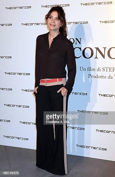 Actress Claudia Potenza attends 'Io Non Ti Conosco' photocall at Maxxi Museum on October 17 2013 in Rome Italy