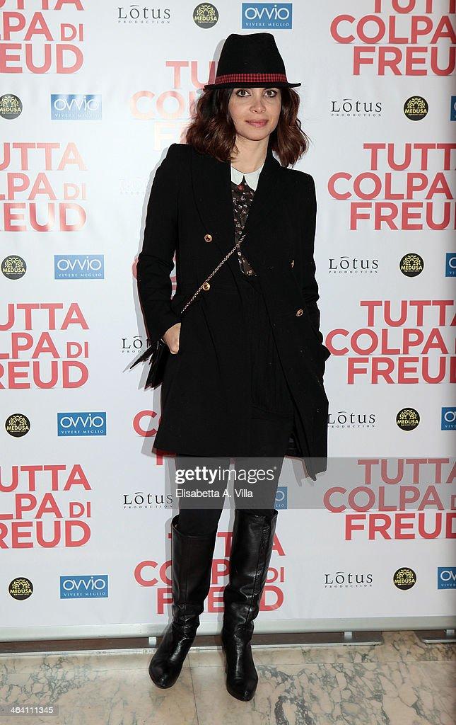 Actress Claudia Potenza attends 'Tutta colpa di Freud' premiere at Teatro dell'Opera on January 20, 2014 in Rome, Italy.
