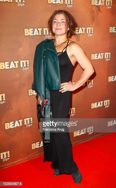 Actress Claudia Schmutzler attends the musical premiere of 'BEAT IT Die Show ueber den King of Pop' at Stage Theater on August 29 2018 in Berlin...
