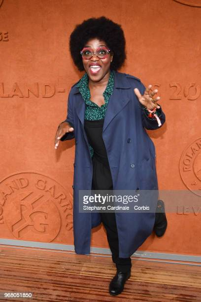 Actress Claudia Tagbo attends the 2018 French Open - Day Ten at Roland Garros on June 5, 2018 in Paris, France.